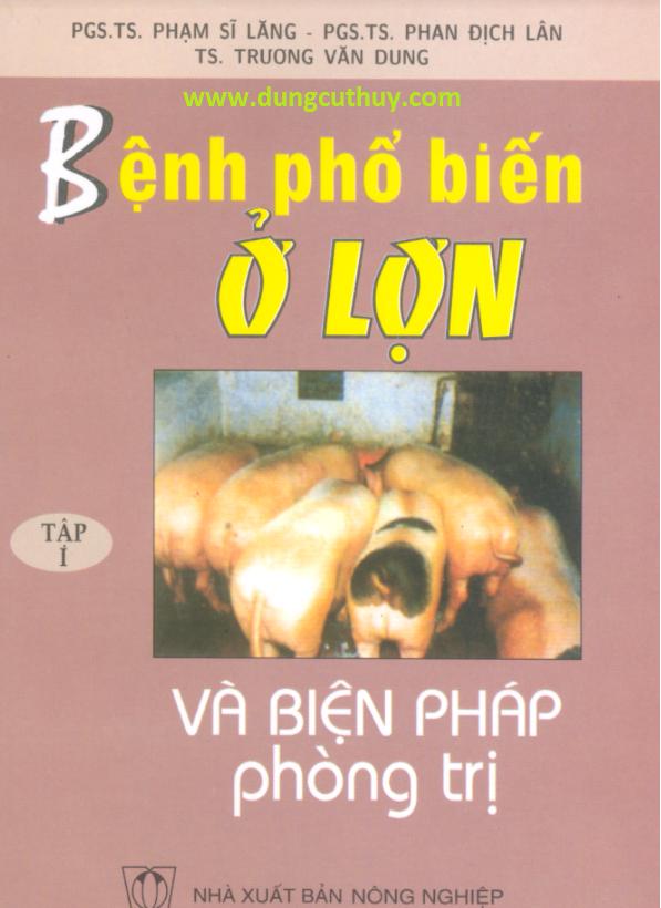 tài liệu bệnh phổ biến ở lợn